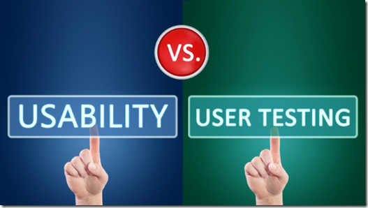 http://marketingland.com/user-experience-smackdown-usability-testing-vs-user-testing-108466